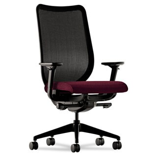HON Nucleus Series Black ilira-stretch M4 Back, Wine Seat Work Chair