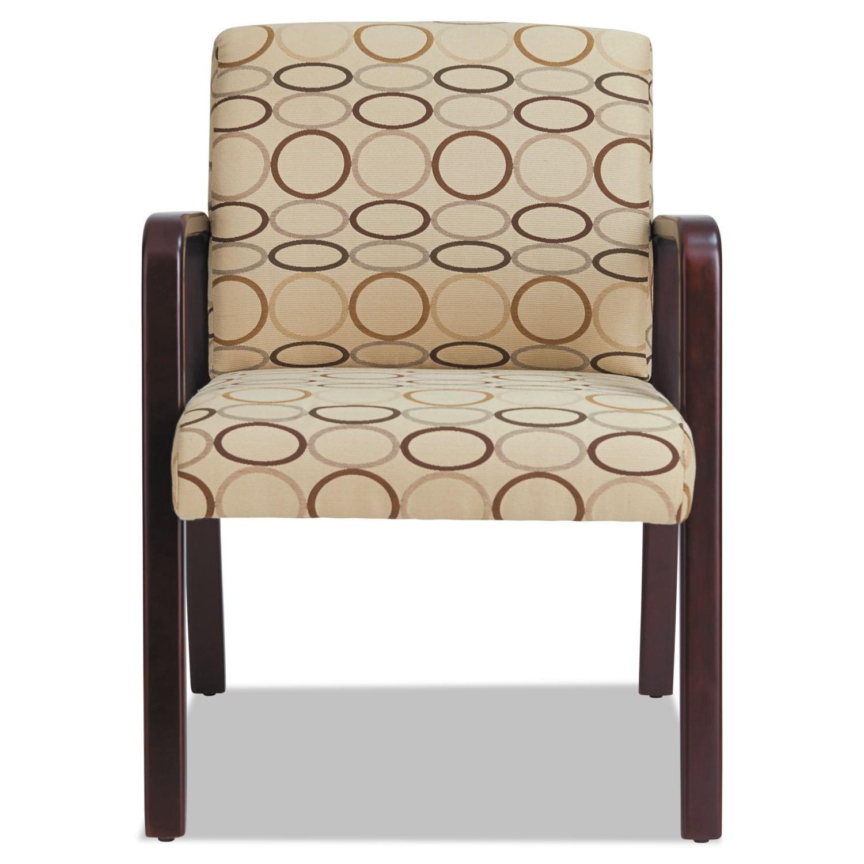 Alera Reception Lounge Series Mahogany/Tan Fabric Guest C...