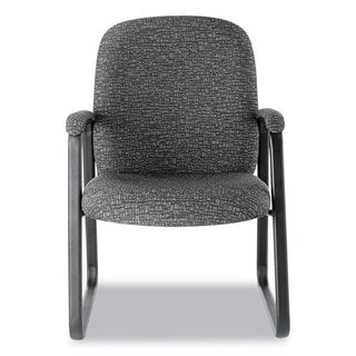 Alera Genaro Series Graphite Fabric, Sled Base Guest Chair