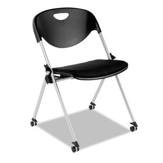 Alera Plus SL Series Black Nesting Stack Chair with Casters (Set of 2)