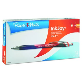 Paper Mate InkJoy 550 RT Red Ballpoint Retractable Pen (Pack of 12 Pens)