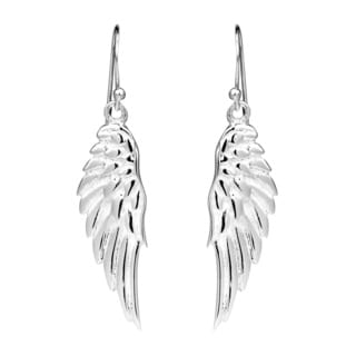 Handmade Enchanting Shiny Angel's Wing .925 Sterling Silver Earrings (Thailand)