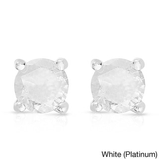 Finesque 1/4ct TDW Round Diamond Solitaire Stud Earrings (I-J, I2-I3)