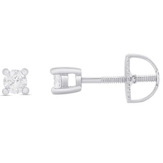 Finesque 1/4ct TDW Round Diamond Solitaire Stud Earrings (3 options available)