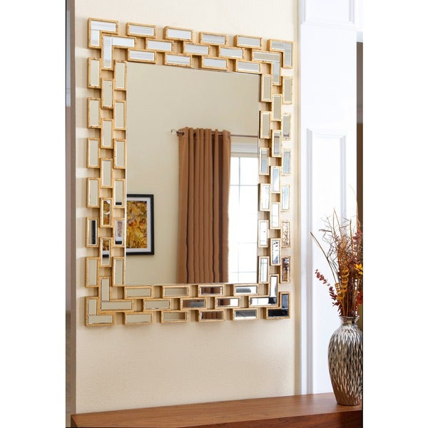 Living Room Mirrors Gym Wall: Shop Abbyson Alexis Rectangle Wall Mirror