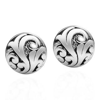 Ornate Swirl Vines .925 Sterling Silver Post Earrings (Thailand)