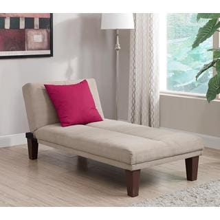 dhp tan dillan chaise tan futons for less   overstock    rh   overstock