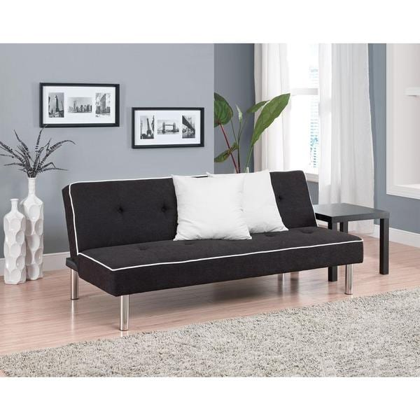 Dhp Charcoal Oxford Futon