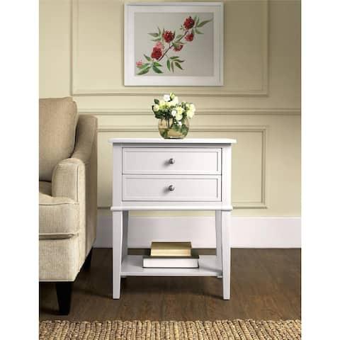 Copper Grove Kurdica White 2-drawer Accent Table
