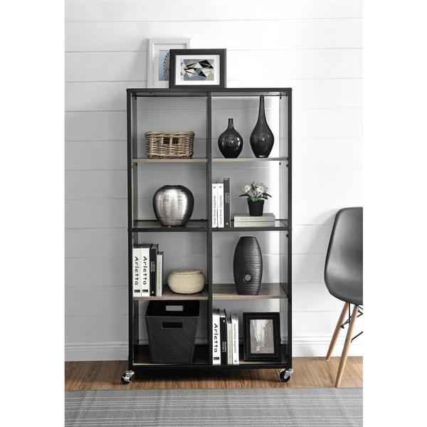 Ameriwood Home Mason Ridge Mobile Bookcase Room Divider