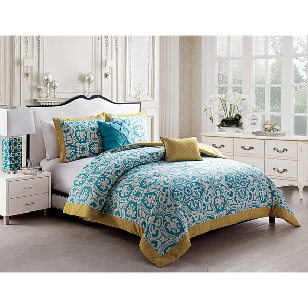 VCNY Durham Reversible 5-piece Comforter Set