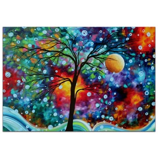 Megan Duncanson 'A Moment in Time' Bright and Colorful Modern Landscape Painting Giclée on Metal