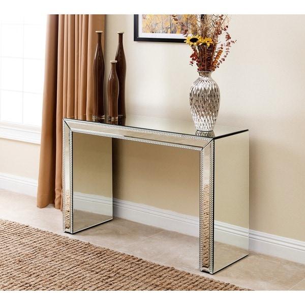 Shop Abbyson Venice Studded Mirror Sofa Table