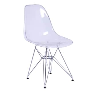 MaxMod Gloss Wire Dining Side Chair in Clear