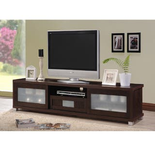 Living Room Furniture Packages With Tv. Baxton Studio Temple Contemporary Dark Brown Wood 70 inch TV Cabinet with 2  Sliding Doors Living Room Furniture For Less Overstock com