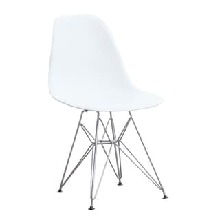 MaxMod WireLeg Dining Side Chair in White