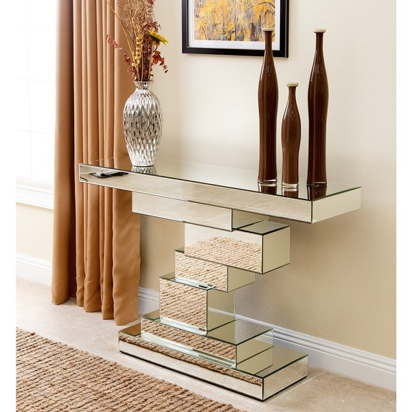 Abbyson Sophie Mirror Sofa Table - Free Shipping Today - Overstock.com - 17415623
