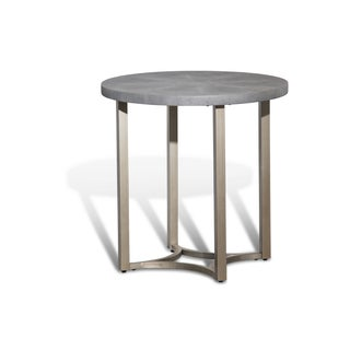 Alta Round End Table w/Slate Grey Top by Michael Amini