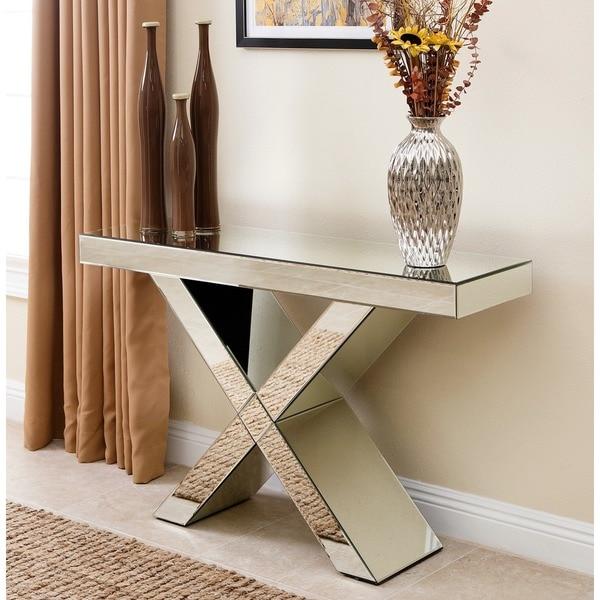 Abbyson Verona Mirror Sofa Table