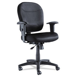 Alera Wrigley Series Black Mesh Mid-Back Chair
