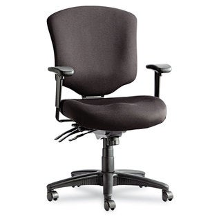 Alera Wrigley Pro Series Black Mid-Back Multifunction Chair w/Seat Glide