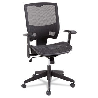Alera Epoch Series All Mesh Multifunction Black Mid-Back Chair
