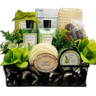 Spa Day Getaway Green Tea Spa Bath and Body Gift Basket