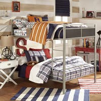 Jakob Contemporary Grey and Black Metal Bunk Bed by iNSPIRE Q Junior
