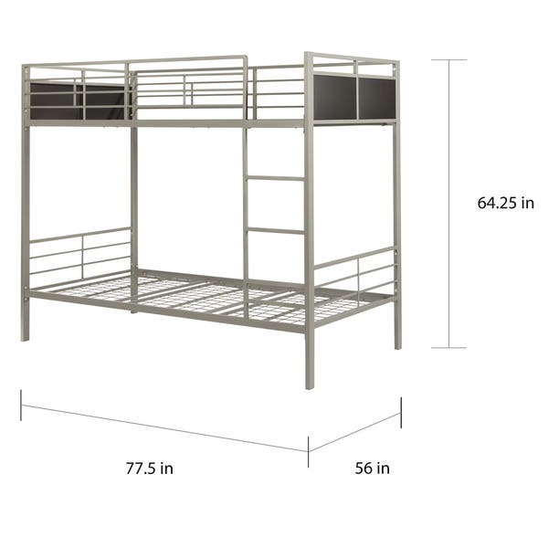 Jakob Contemporary Grey And Black Metal Bunk Bed By Inspire Q Junior Overstock 10302638