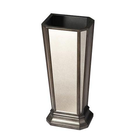 Butler Traditional Rectangular Mirrored Umbrella Stand - Silver
