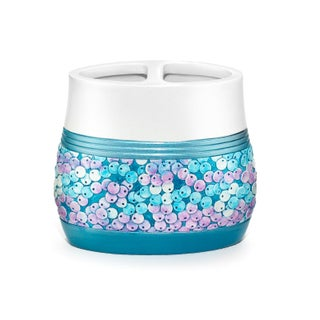 Shimmering Aqua Seashell Bath Accessory Collection in 7 Options (4 options available)