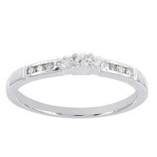 H Star Sterling Silver 1/6ct Diamond Promise Ring (I-J, I2-I3)