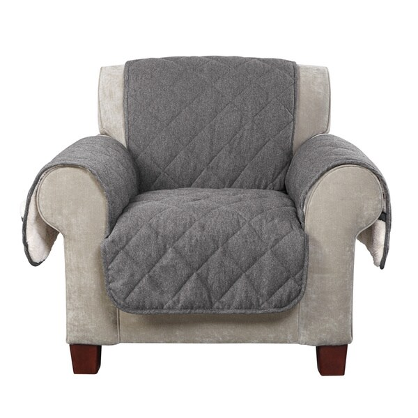Sure Fit Reversible Flannel/ Sherpa Chair Furniture