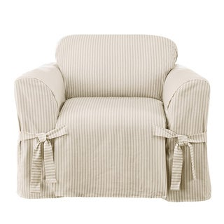 Sure Fit Ticking Stripe One Piece Chair Slipcover
