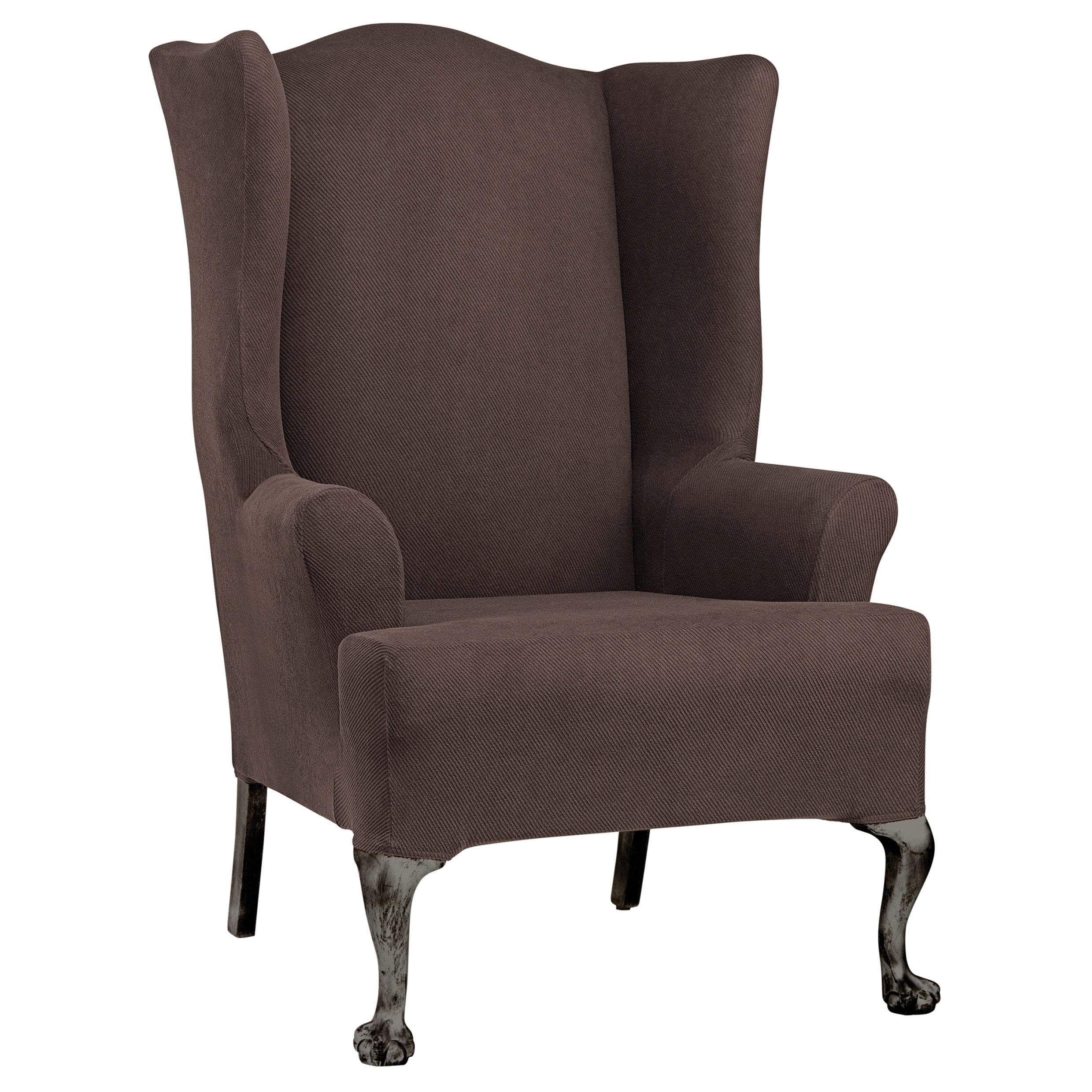Sure Fit Simple Stretch Twill Wing Chair Slipcover Free Shipping
