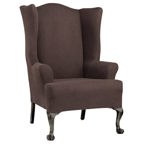 Sure Fit Simple Stretch Twill Wing Chair Slipcover