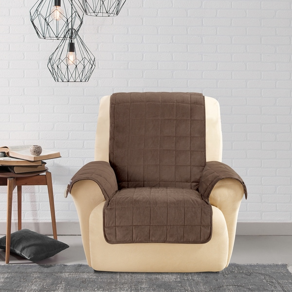 Sure Fit Soft Suede Pet Cover Wing Chair/ Recliner Slipcover