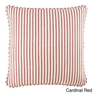 Sure Fit Ticking Stripe 18-inch Decorative Pillow
