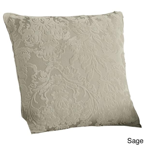 Stretch Jacquard Damask 18 Inch pillow slip French Blue