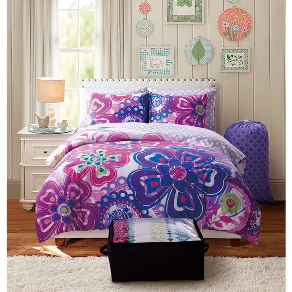 Shop Vcny Kimberly 9 Piece Floral Reversible Bed In A Bag
