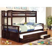 Furniture of America Rodman Wood/Veneer 2-piece Twin-over-queen Bunk Bed Set