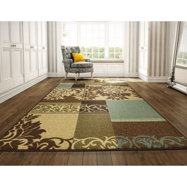 Rooster Tapestry Non Skid Rug: Shop Ottomanson Ottohome Collection Contemporary Damask