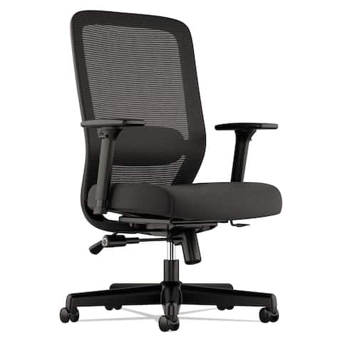 HON Exposure Mesh Task Chair - Computer Chair with 2-Way Adjustable Arms for Office Desk, Black (BSXVL721LH10)