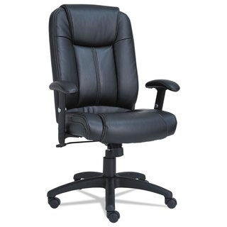 Alera CC Series Black Executive High-Back Swivel/Tilt Leather Chair