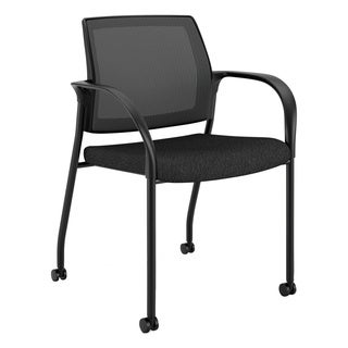 HON Ignition Series Black Mobile Stacking Chair