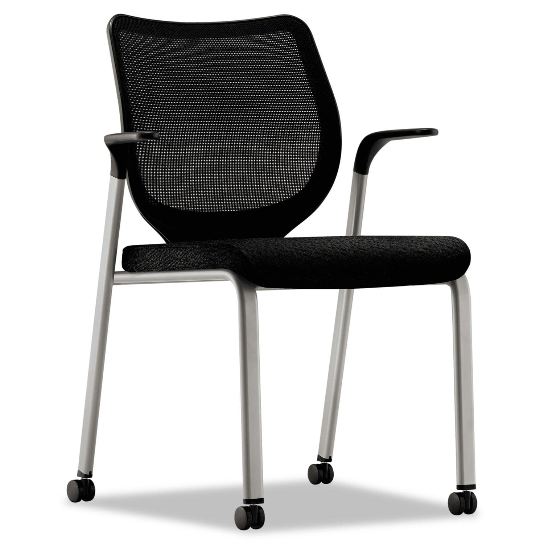 HON Nucleus Black/Platinum Multipurpose Chair (Black, Pla...