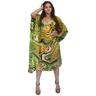 Peach Couture Sheer Bathing Suit Swirl Cover Up Swim Dress. Opens flyout.