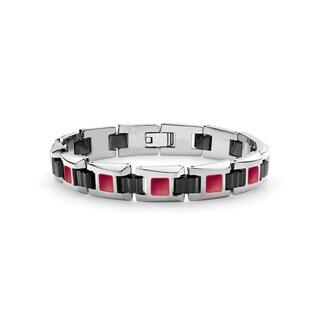Tonino Lamborghini Il Primo Red Garnet Men's Bracelet