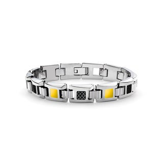 Tonino Lamborghini Il Primo Yellow Lacquer Men's Bracelet