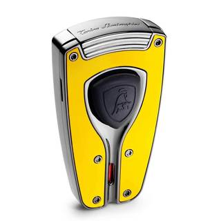 Tonino Lamborghini Forza Yellow Lacquer Torch Flame Lighter (Ships Degassed)